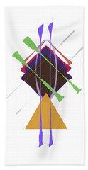 Beach Towel featuring the digital art Improvised Geometry #3 by Bee-Bee Deigner
