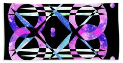 Beach Towel featuring the digital art I Took A Retrofuturistic Journey In Space In 1920 by Bee-Bee Deigner