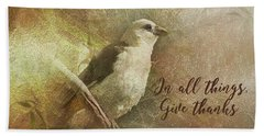 In All Things Give Thanks Beach Sheet