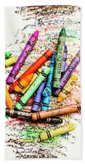 In Colours Of Broken Crayons Beach Towel