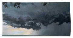 In Coming Storm-epping Forest On The Lake Beach Towel