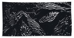 In Contrasts Of Light And Darkness Beach Towel