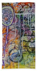 Beach Towel featuring the mixed media In Depth by Mimulux patricia No