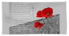 In Flanders Fields Beach Sheet