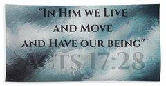 In Him We Live... Beach Sheet