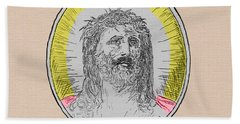 In Him We Trust Colorized Beach Towel