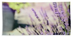 Beach Sheet featuring the photograph In Love With Lavender by Kerri Farley