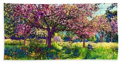 In Love With Spring, Blossom Trees Beach Towel