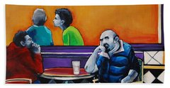 In Love With The Girl In The Green Sweater Beach Towel by Jean Cormier