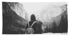 Yosemite Love Beach Towel by JR Photography