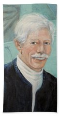 Beach Towel featuring the painting In Memory Of Uncle Bud by Donna Tucker