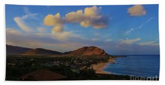 Beach Towel featuring the photograph In Morning Light Ma'ili Hawaii by Craig Wood