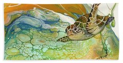 Beach Towel featuring the painting In Search Of Sea Grass  by Darice Machel McGuire
