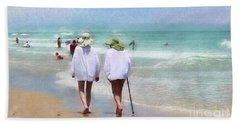 In Step With Life Beach Sheet
