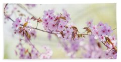 Beach Towel featuring the photograph In Tender Bloom. Spring Watercolors by Jenny Rainbow