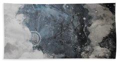 In The Beginning Beach Towel by Elizabeth Carr