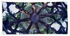 Beach Sheet featuring the photograph In The Center Of Seven Under Birds #1 - Tiny Planet by Chris Bordeleau