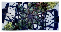 In The Center Of Seven Under Birds #2 - Tiny Planet Beach Towel