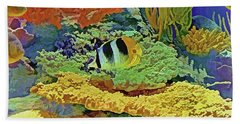 In The Coral Garden 10 Beach Towel