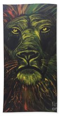 Beach Towel featuring the painting In The Dark by Brindha Naveen