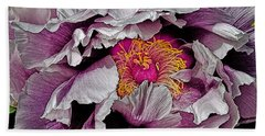 In The Eye Of The Peony Beach Towel
