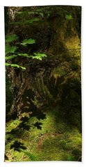 Beach Towel featuring the digital art In The Forest by I'ina Van Lawick