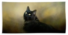 In The Garden Light Cat Art Beach Sheet