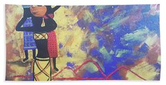 In The Heat Of The Day Beach Towel by Judi Goodwin