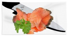 In The Kitchen-salmon Beach Towel
