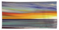 In The Moment Panoramic Sunset Beach Towel