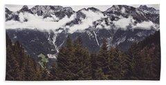 In The Mountains Beach Sheet by Daniel Precht
