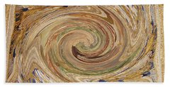 In The Museum Abstract Beach Towel