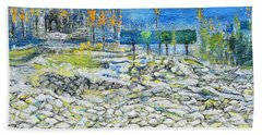 In The Park Beach Towel by Evelina Popilian