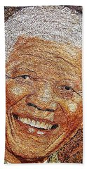 Nelson Mandela - In The Pyramid Of Our Minds Beach Towel