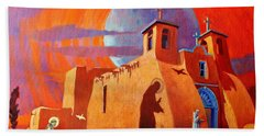 In The Shadow Of St. Francis Beach Towel by Art West