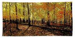 In The The Woods, Fall  Beach Towel