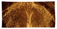 Incandescent Branches  Beach Towel