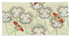 Incendia Flower Garden Beach Towel