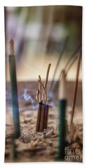 Incense Burning Beach Towel
