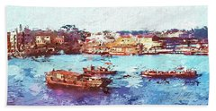 Inchon Harbor Beach Towel by Dale Stillman