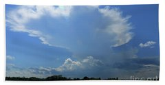 Incoming Storm Over Barnegat Bay Beach Towel