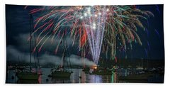 Beach Towel featuring the photograph Independence Day In Maine by Rick Berk