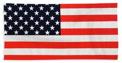 Pooling Independence Day Large Scale Oil On Canvas Original United States Flag Beach Sheet