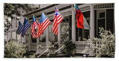 Independence Day Southport Style Beach Towel by Phil Mancuso