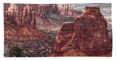 Independence Monument At Colorado National Monument Beach Sheet