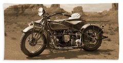 Indian 4 Sidecar Beach Towel