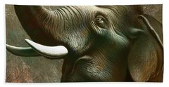 Indian Elephant 2 Beach Towel