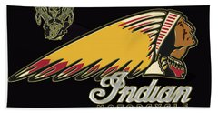 Indian Motorcycle Logo Series 2 Beach Sheet