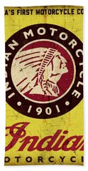 Indian Motorcycle Sign 1901 Beach Towel
