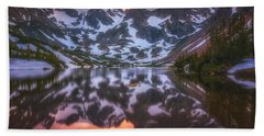 Indian Peaks Reflection Beach Towel